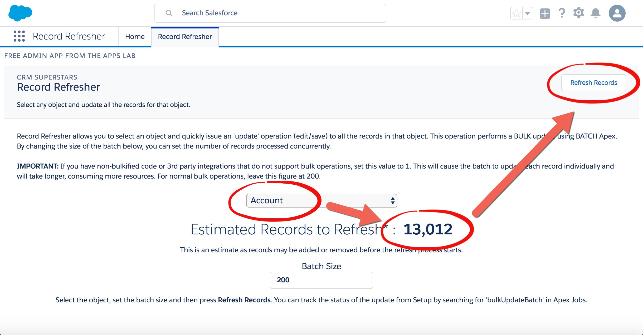 Mass Update Records in Salesforce in Bulk with Record